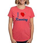 I Heart Running Womens Tri-blend T-Shirt