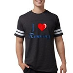 I Heart Running Mens Football Shirt