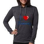 I Heart Running Womens Hooded Shirt
