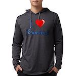 I Heart Running Mens Hooded Shirt