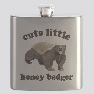 Cute Lil Honey Badger Flask