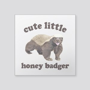 "Cute Lil Honey Badger Square Sticker 3"" x 3"""