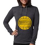 Water Polo Ball Womens Hooded Shirt