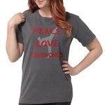 Peace Love Taekwondo Womens Comfort Colors Shirt