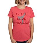 Peace Love Taekwondo Womens Tri-blend T-Shirt