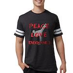 Peace Love Taekwondo Mens Football Shirt