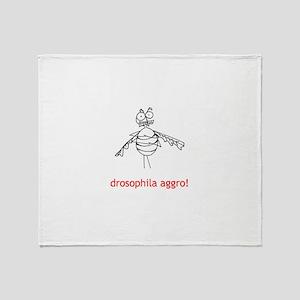 Drosophila Aggro! Throw Blanket
