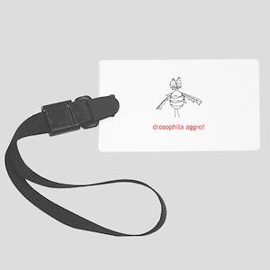 Drosophila Aggro! Large Luggage Tag