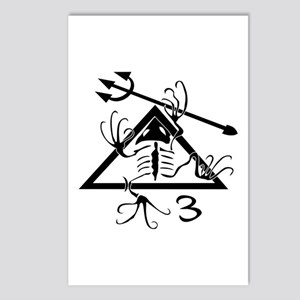 SEAL Team 3 Patch B-W Postcards (Package of 8)