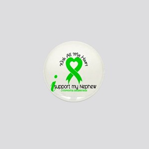 With All My Heart Lymphoma Mini Button