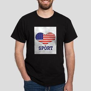 LOVE SPORT STARS AND STRIPES Dark T-Shirt