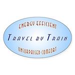 Travel by Train Oval Sticker
