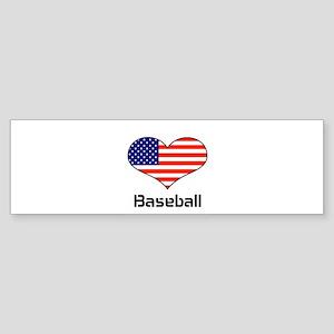 LOVE Baseball Stars and Stripes Sticker (Bumper)