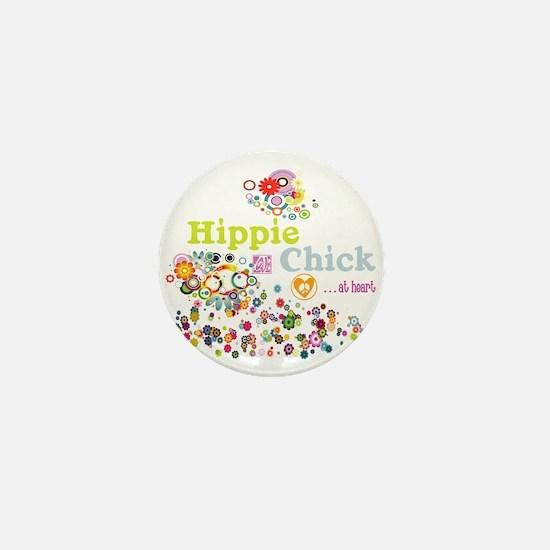 Hippie Chick at Heart Mini Button