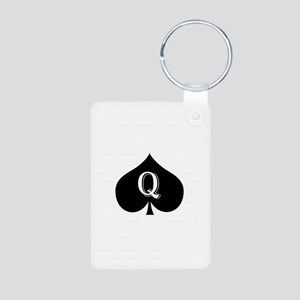Queen of spades Aluminum Photo Keychain