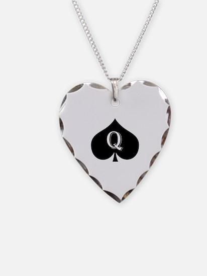 Queen of spades Necklace
