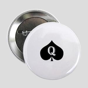 """Queen of spades 2.25"""" Button"""