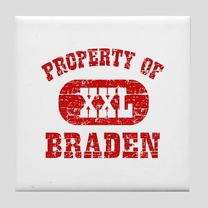 Property Of Braden Tile Coaster