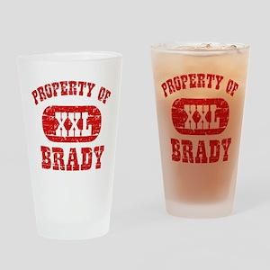 Property Of Brady Drinking Glass