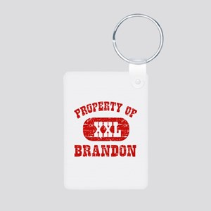 Property Of Brandon Aluminum Photo Keychain
