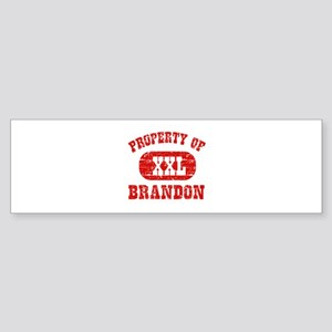Property Of Brandon Sticker (Bumper)