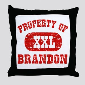 Property Of Brandon Throw Pillow