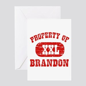 Property Of Brandon Greeting Card