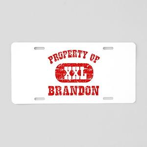 Property Of Brandon Aluminum License Plate