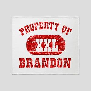 Property Of Brandon Throw Blanket