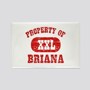 Property Of Briana Rectangle Magnet