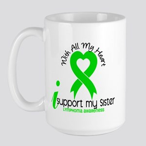 With All My Heart Lymphoma Large Mug