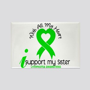 With All My Heart Lymphoma Rectangle Magnet