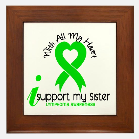 With All My Heart Lymphoma Framed Tile