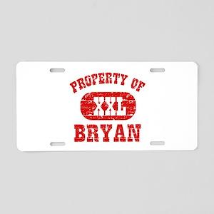 Property Of Bryan Aluminum License Plate