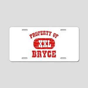 Property Of Bryce Aluminum License Plate