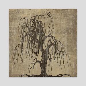 Vintage Willow Tree Queen Duvet