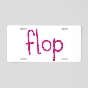 FLOP Aluminum License Plate