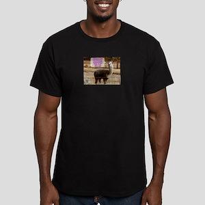 Lola Drama Llama Men's Fitted T-Shirt (dark)