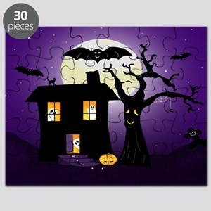 Halloween Pumpkin Haunted House Puzzle