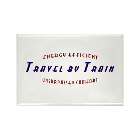 Travel by Train Rectangle Magnet