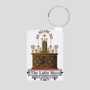 Latin Mass Deluxe Aluminum Photo Keychain
