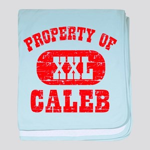 Property Of Caleb baby blanket