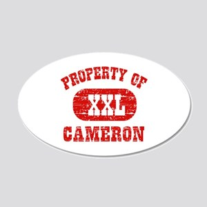 Property Of Cameron 20x12 Oval Wall Decal