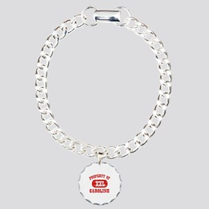 Property Of Caroline Charm Bracelet, One Charm