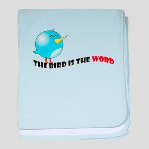 Bird is the word baby blanket