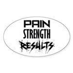 Pain - Results Sticker (Oval)