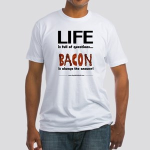Bacon Is The Answer Fitted T-Shirt