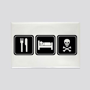 EAT SLEEP PIRATE Rectangle Magnet