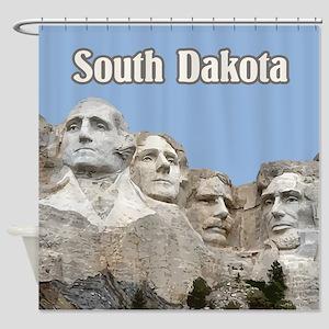 South Dakota Mount Rushmore Shower Curtain