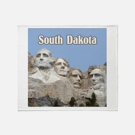 South Dakota Mount Rushmore Throw Blanket